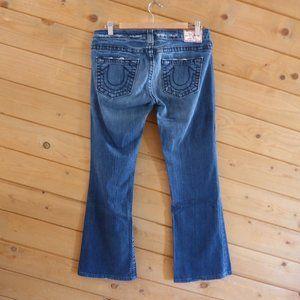 True Religion 29 Tony Big T Boot Leg Blue Jeans